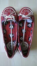 Irregular Choice flat shoes platform rockabilly retro 50s red black goth 7 41