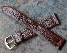 Pulsar watch 18mm band great pattern Genuine Leather vintage 1960s/1970s NOS