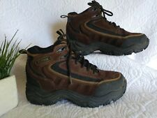 mens 8.5 EARTH SHOE Waterproof Boots Brown Hiking Trail Suede Leather Shoe