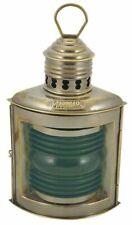 Feu de Tribord, Positions-Lampe Pétrole Droits Lanterne Navire Vert Vieux Laiton