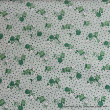 FAT QUARTER PATCHWORK/QUILTING FABRIC - 1930's - GREEN SPOTS AND FLORAL