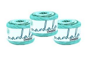 Lion Brand Yarn - Lot Of 3 - Mandala Ombre - Zen