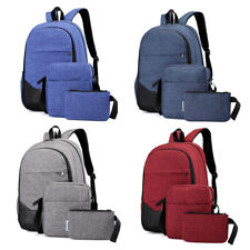 3Pcs School Backpack for Boys Teens Bookbag Travel Daypack Kids Girls Lunch Bag