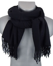 Bufanda hombre negro de Ella Jonte Suave ELEGANTE otoño invierno Calentamiento
