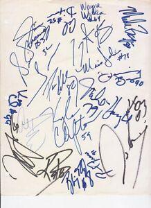 NY Jets Team SIGNED Dennis Byrd Al Toon Lageman Nagle Blair Thomas Mitchell 90's