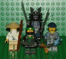 LEGO - The Ninjago Movie - Green Ninja, Garmadon, Wu & Charlie Mini Figure Lot