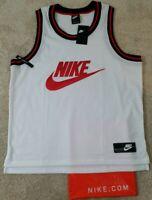 NIKE Sportswear TANK~Men's XL~White Jersey Loose Fit Sleeveless AR9892-100 NWT