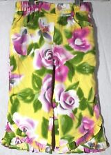 Oilily 100% Cotton Floral Pink Yellow Green White Girls Pants 104