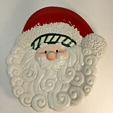 Fitz and Floyd Santa Claus Canape Plate Stocking Stuffers Collection Christmas