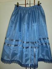 50er Jahre Petticoat Trachten Unterrock BLAU MEERTÖNE Dirndl 77 cm 34 bis 46 Neu