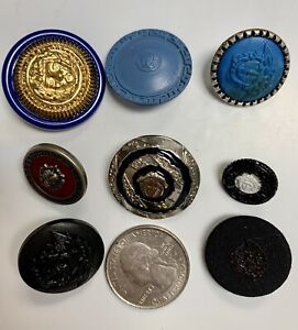 8 Assorted Vintage Versace Round Buttons