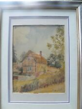 Thatched cottage watercolour