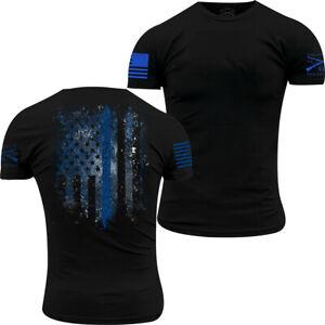 Grunt Style Blue Shield T-Shirt - Black