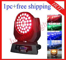 1pc 36*18W RGBWAP 6 in 1 Led Moving Head Zoom Moving Head Wash Free Shipping