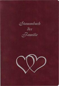 Stammbuch GRIS, Velours, bordeaux, Silber | Hochzeit |Besonderer Anlass |Trauung