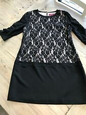 TED BAKER BLACK SPECIAL OCCASION LACE DRESS - SIZE 2 (APPROX 8/10)