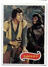 PLANET OF THE APES MOVIE CARD NO 63 RELAXING ON THE SET  TOPPS NRMINT+ 5100