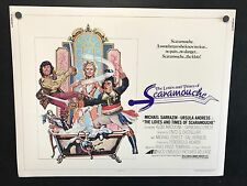 Original 1976 The Love and Times of Scaramouche Half Sheet Movie Poster 22 x 28