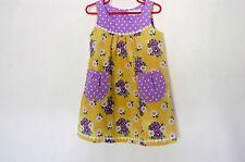 *Designer*  Flower & Dots Dress - Purple/Yellow - for Girls 4 (four) YEARS