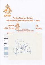 PATRICK KLUIVERT NETHERLANDS INTL 1994-2004 ORIGINAL HAND SIGNED CUTTING