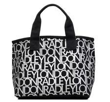 Genuine Radley London Small Canvas Grab Bag Black Silver Gift Bnwt