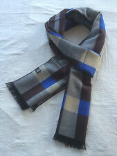 Mongolian Cashmere Pashmina Cotton Plaid Men Man Scarf- Luxury Soft Warm  056
