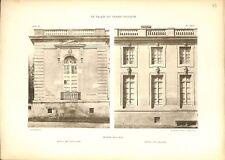Trianon-sous-Bois Motifs des Pavillons Château de Versailles GRAVURE PRINT 1899