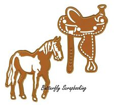 WILD WEST Dies Horse Saddle Craft Die Cutting Dies Joy! Crafts 6002/0424 New