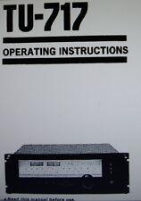 SANSUI TU-717 AM FM Stereo Tuner Bedienungsanleitung gedruckt gebunden englisch