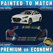 NEW Painted To Match Front Bumper Replacement for 2018 2019 Hyundai Sonata 18 19