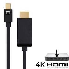 Apple Mac Mini PC Mini DisplayPort(DP) to HDMI TV/Monitor 4K Lead Cable - Black