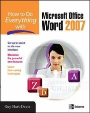 How to Do Everything with Microsoft Office Word 2007, Hart-Davis, Guy, Good Book