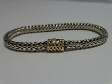 John Hardy Cable Bracelet Sterling with 18K Clasp