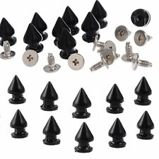 RUBYCA 12MM 20 Sets Metal Tree Spikes and Studs Metallic Screw-Back for DIY Punk