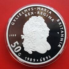 Niederlande-Netherlands: 50 Gulden 1988 Silber, KM# 212, PP-Proof, #F0334