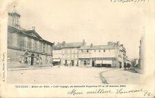 CARTE POSTALE VOUZIERS HOTEL DE VILLE CAFE LEPAGE OU DESCENDIT NAPOLEON EN 1804