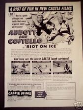 1949 Castle Films 8mm home movies Abbott & Costello ad