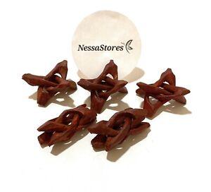 "NessaStores Carved Tripod Wood Stand Holder 2""  ( 3 pcs ) #JC-44"