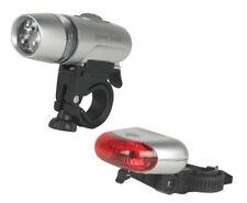 Raleigh LAA820 Ultra LED Bike Light Set. 3 LED Front & 5 LED Rear Inc Batteries
