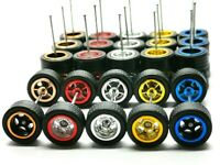 Hot Wheels 5 Spoke Rubber Tire  - 10 sets JDM (5 colors MIX) NEW ARRIVAL
