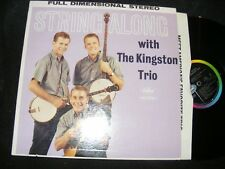 Stereo Banner STRING ALONG WITH THE KINGSTON TRIO Capitol 1960 Original Labels