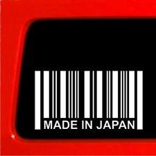 MADE IN JAPAN Sticker barcode decal car truck honda ill drift