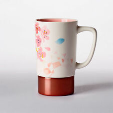 Starbucks Cherry Blossom Collection Sakura Ceramic Stainless Watercolor Mug 16oz