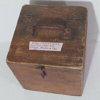 Antique Chemical Bottle Box From Utica NY Psychiatric Center- Insane Asylum
