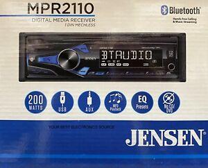 NEW Jensen MPR2110 1-DIN Digital Media Car Stereo w/ Bluetooth
