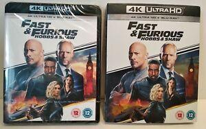 FAST & FURIOUS Hobbs & Shaw 4K HD + Blu Ray Region Free - Neuf / New & selead