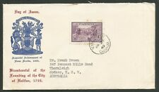 1949 FDC Cover 4c Halifax #283 CDS Vancouver BC to Australia Cachet