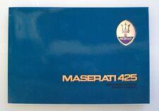 Libretto uso e manutenzione Maserati 425