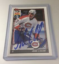 JOHN LECLAIR - SIGNED - 1991/92 Topps #209 Top Prospect Card! Autographed! Habs