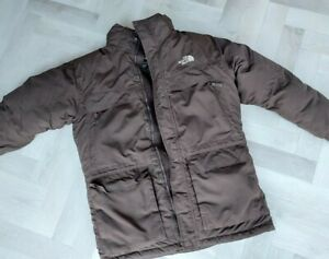 The North Face Boys XL Hyvent 550 GOOSE DOWN BROWN Parka Jacket Coat FAULTY ZIP